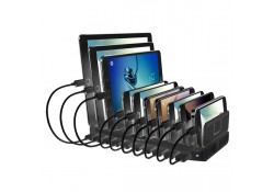 10 Port USB Charging Station For Tablets