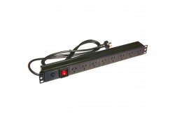 1U x 8-Outlet Horizontal PDU (10 Amp), 3-pin Plug
