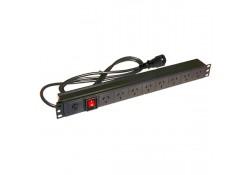 1U x 8-Outlet Horizontal PDU (10 Amp), IEC-C14